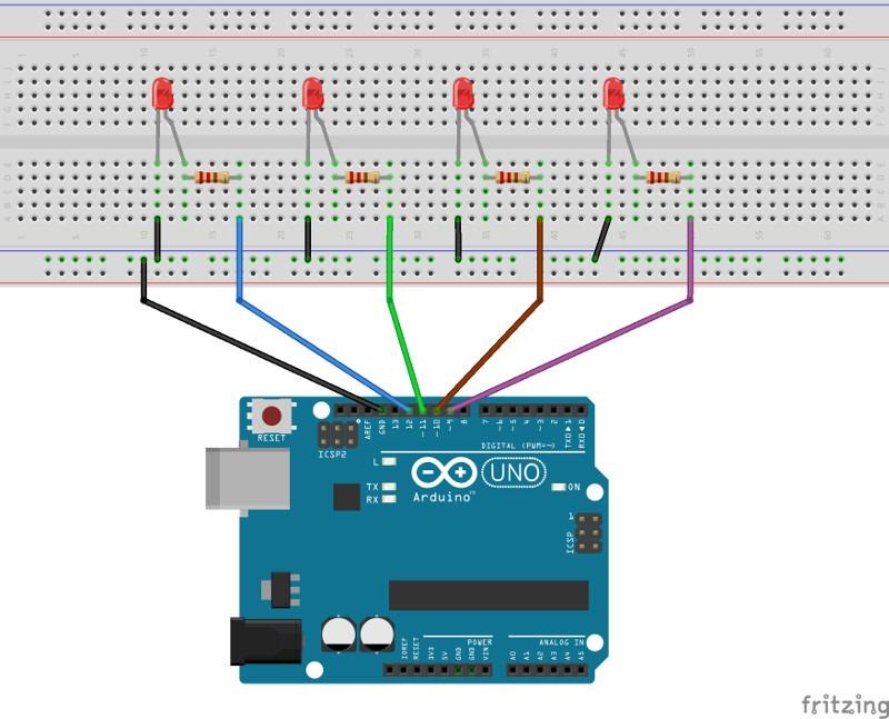 Arduino schematics leds