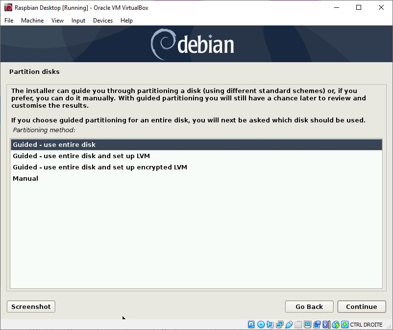 Raspbian Desktop Partition Disks - Use Entire Disk