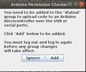 Ubuntu Arduino Permission Checker for dialout group