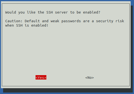 raspi-config Enable SSH
