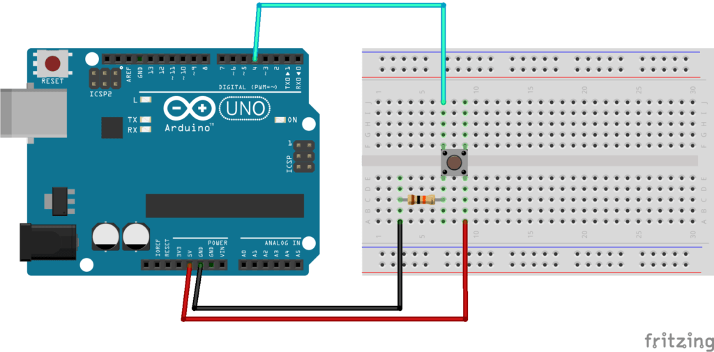 Arduino Push Button with external pull down resistor