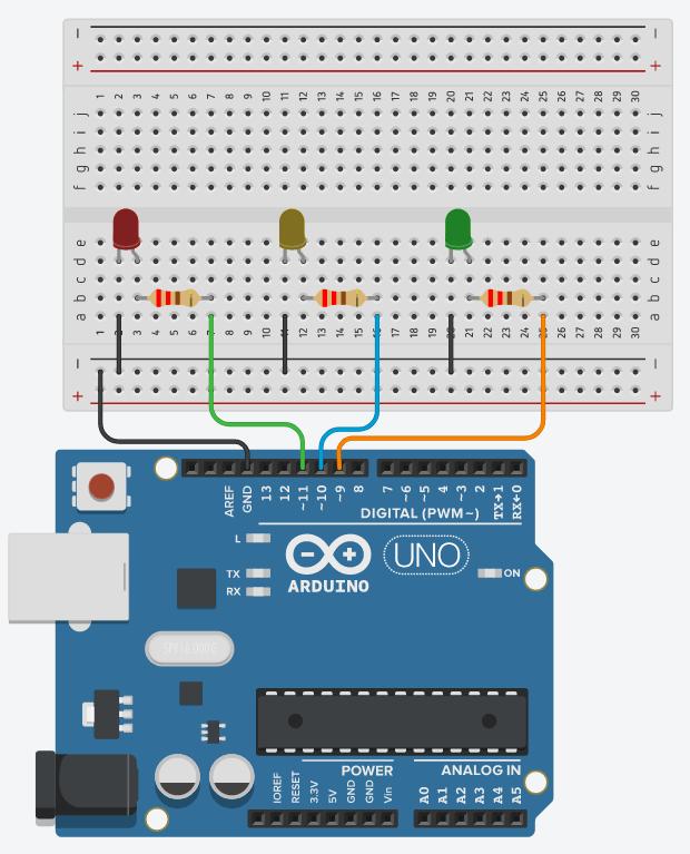 Arduino Circuit - 3 LEDs