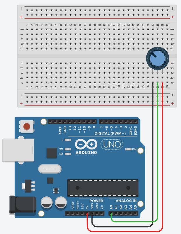 Arduino Potentiometer Circuit
